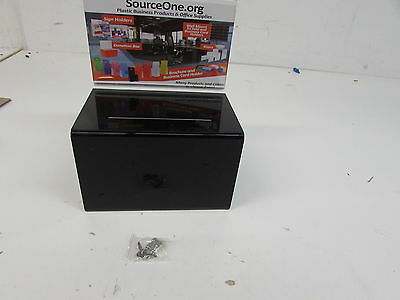SourceOne Large Oblong Donation Box W  8 1 2 x 11 Sign Holder (Black)