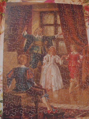 unusual and pretty vintage wooden VICTORY jigsaw