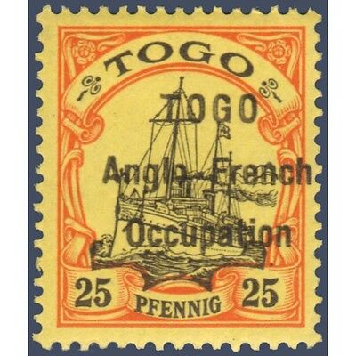 Togo N°36 Timbre Poste Du Togo Allemand Avec Surcharge 1914, Neuf*