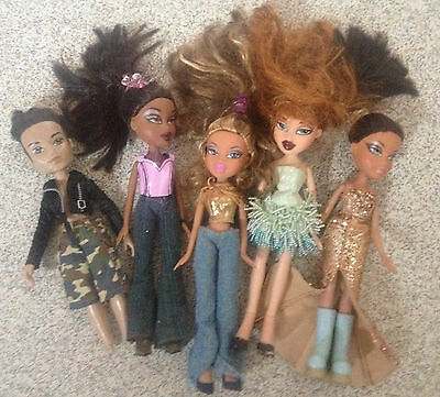 x5 Bratz Dolls Bundle + boy doll fully dressed joblot in good condition