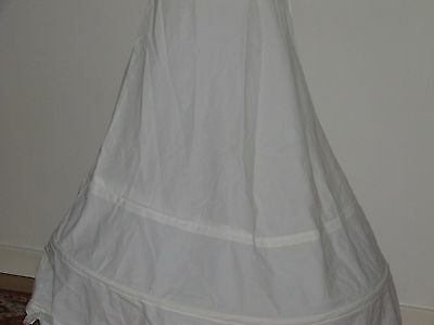 Pronuptia Vintage Petticoat White Nylon Hooped/crinoline Skirt Wedding/fancy D.