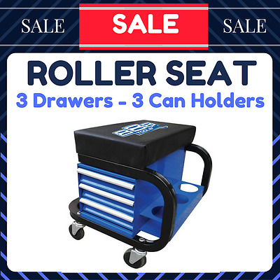 888 Roller Seat With Storage 3 Drawers + Can Holder T8R58