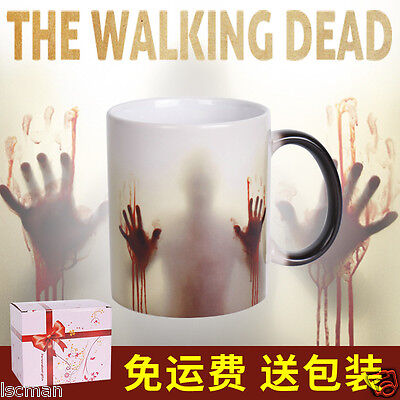 NEW Walking Dead ZOMBIE HUNTER-Magic Color Changing Coffee Mug Cup Gift