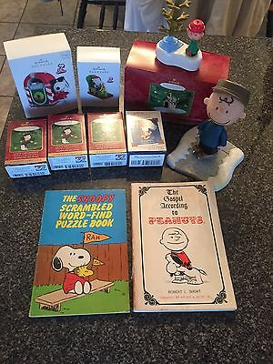 Peanuts Snoopy 11 piece lot Hallmark etc