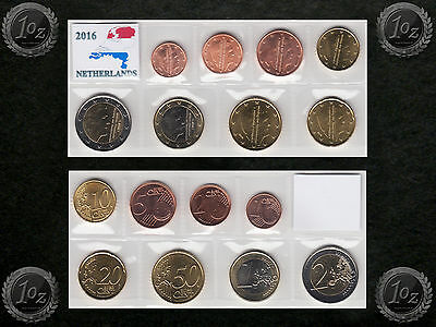 NETHERLANDS complete EURO SET 2016 - 8 coins SET (1 cent - 2 Euro) UNCIRCULATED
