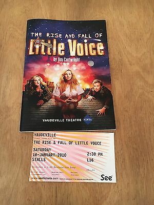 Programme And Ticket Stub. The Rise And Fall Of Little Voice. Vaudeville Theatre