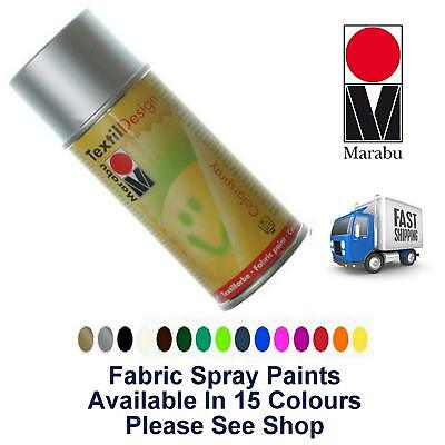Upholstery Marabu Fabric Spray Paint 150ml Clothes Shoes Car Interior Curtains