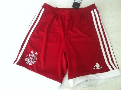 BNWTS Boys Junior Football Shorts Aberdeen Age 11-12 Years Adidas Red Home