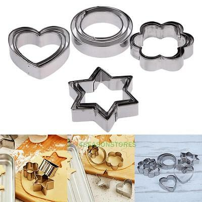 12 Pcs Cookie Cutter Pastry Biscuit Stainless Steel Mold Set