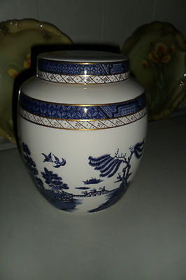 Extra Large Royal Doulton Booths Real Old Willow Blue & White Ginger Jar Ex.Cond