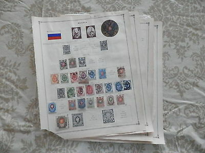Russia Old Collection 1875-1938 On Pages Dr Schultz Estate !!9414R