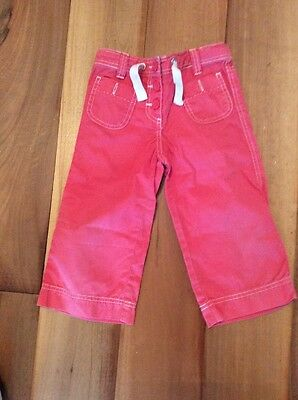 Mini Boden Girls Cropped Peach Trousers 6y