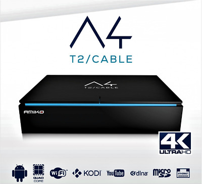 Amiko A4 T2/cable 4K Hd Hevc H265