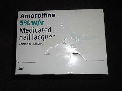 Amorolfine 5% w/v Medicated Nail Lacquer   IN NEW SEALED BOX