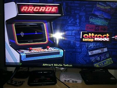RetroPie ATTRACT MODE REY's DELUXE 128gb Micro SD card  fully loaded P&P+ kodi