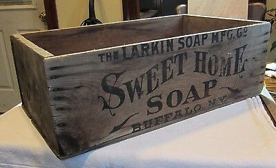 "1880's Larkin Soap Company ""Sweet Home Soap"" Soap Box Crate  ! VERY RARE !"