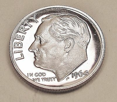 1964    Proof   Dime  90%  Silver   Exact   Coin   Pictured      #217  2