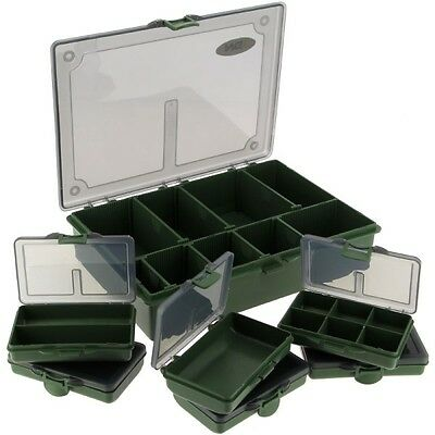 NGT Carp Coarse Fishing 6+1 Tackle Box System with 7 Movable Dividers and Lid
