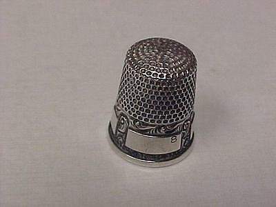 Thimble-Vintage-Sterling by McKD in Size 8 - 6 Panel Bottom = 15172C