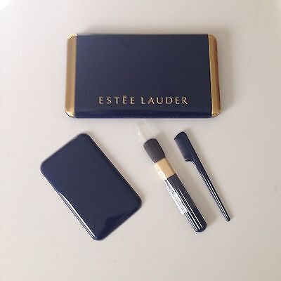 VTG EUC ESTEE LAUDER Compact & Accessories  navy and gold colors
