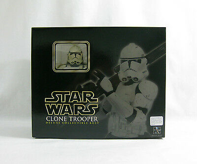 NEW 2006 Star Wars ✧ Clone Trooper ✧ Gentle Giant Deluxe Bust MISB