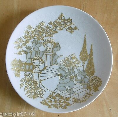 Rosenthal Porcelain Classic Rose Wall Plate By Bjorn Wiinblad - Serenade Motiv I
