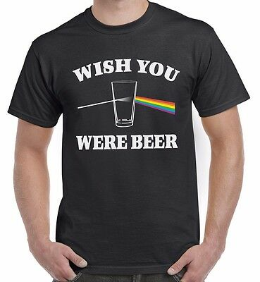 Wish You Were Beer Pink Floyd Album Funny Inspired T Shirt Top Tee