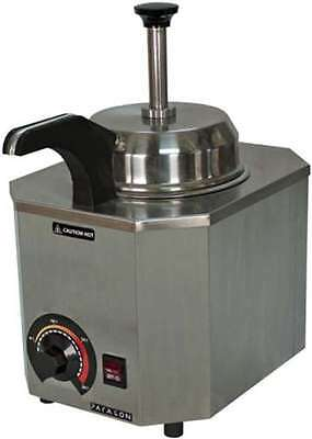 Commercial Pump #10 Can Warmer Fudge Caramel Cheese Heated Spout + Front Control