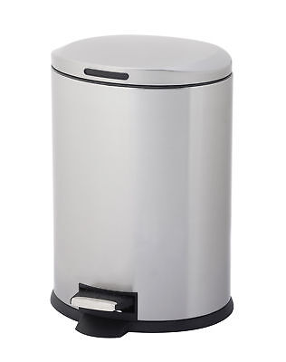 HomeZone Stainless Steel 3.17 Gallon Step On Trash Can