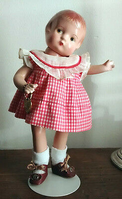 "9"" Effanbee Patsy Patsyette Doll w Hang Tag & Original Shoes & Outfit Adorable!"