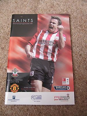 Southampton FC versus Manchester United - Football Programme - 15 May 2005