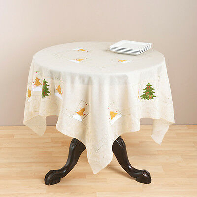 Saro Embroidered Holiday Table Topper