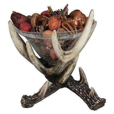 River's Edge Products Deer Antler Glass Dish
