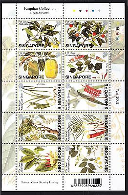 Singapore 2002 Farquhar Collection Of Natural History Drawings (Fruits & Plants)
