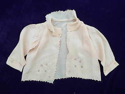 3 Vintage Silk/lace Baby Christening Jackets Plus Blouse