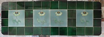 Beautiful Victorian Ceramic Tile Tiles Panel 1889