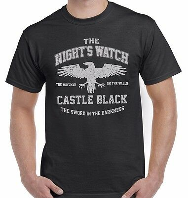 The Night's Watch 'Castle Black' Game Of Thrones Unisex T Shirt Top Tee