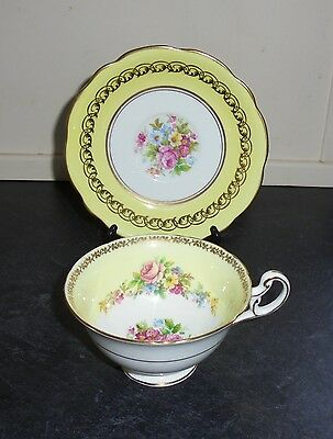 """Vintage Tea Cup & Saucer """"Duo"""" By Foley - Yellow"""