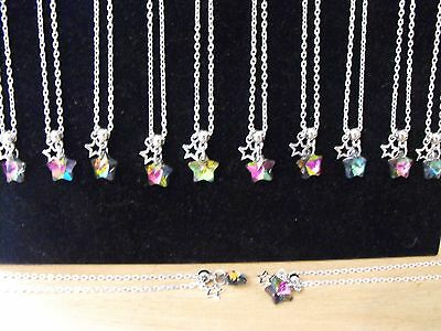 Wholesale Jewellery Joblot 12 Necklaces, Star Pendant.gifts, Party Bags