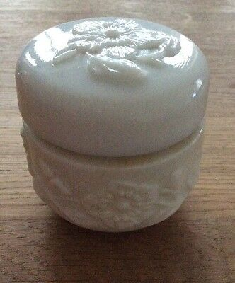 Vintage Collectable Avon White Container With Flowers On
