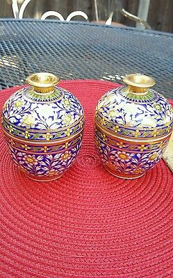 Beautiful pair of Turkish lidded cachepots