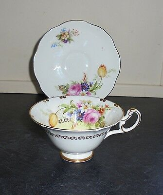"""Vintage Tea Cup & Saucer """"Duo"""" By Foley - White"""