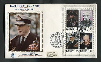 1980 Bardsey Island : Famous People Nelson Mountbatten Churchil Lloyd George