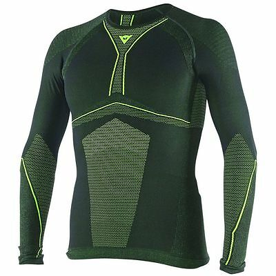 Dainese D-Core Dry Mens Long Sleeve Base Layer Shirt Top  Black/Fluo Yellow MD