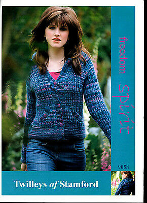 Twilleys Freedom Sincere DK Boy/'s Cardigan Jacket Double Knitting Pattern 9073