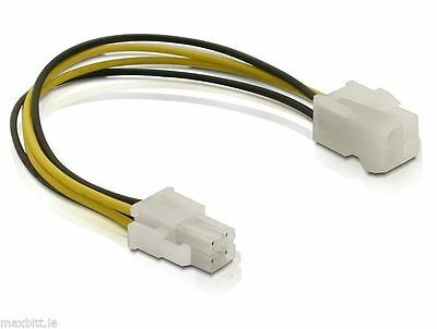 4pin ATX P4 Male to 4pin ATX P4 Female 15cm power extension cable 12 V for CPU