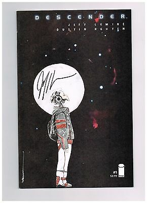 Signed Descender #1 Cover A Nguyen Image Comics Jeff Lemire Sold Out Key Comic