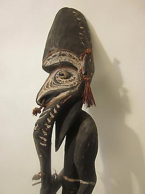 Papua New Guinea, tall Lower Sepik Ancestor figure,  Oceanic Tribal Art