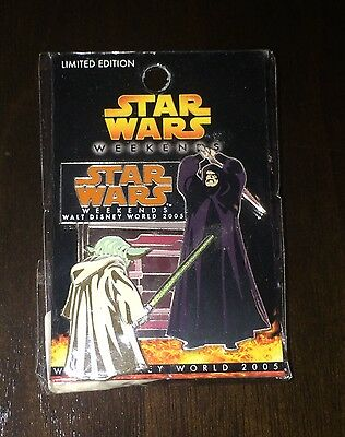 Disney Star Wars Weekends 2005 Yoda and Palpatine Pin! LE: 1000!!