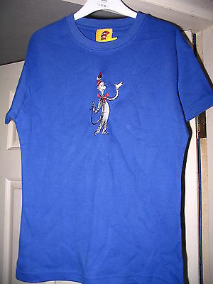 Dr Seuss Cat In The Hat Embroidered T Shirt Ladies Brand New Small Very Rare